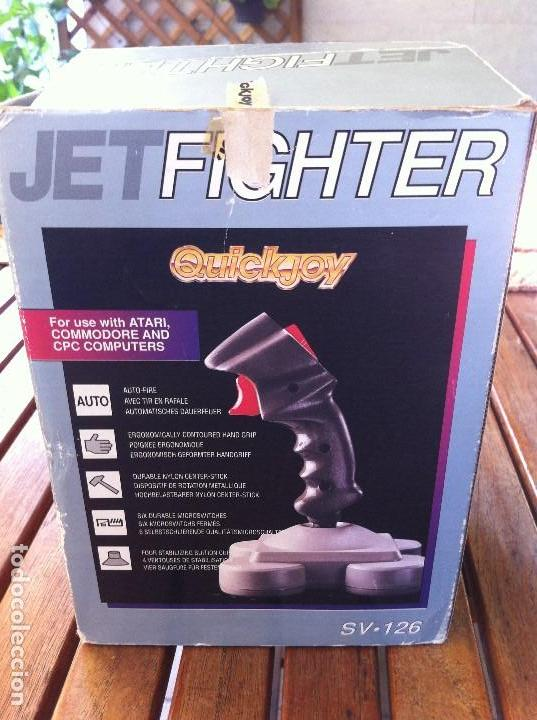 Videojuegos y Consolas: Joystick Jet Fighter Quickjoy. SV-126 caja original. Compatible con Atari, Commodore y CPC Computers - Foto 3 - 128116131