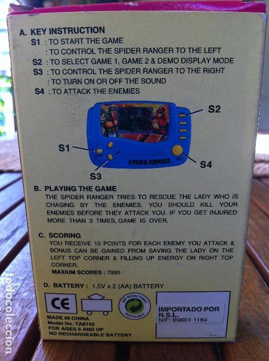Videojuegos y Consolas: Consola Spider Ranger LCD Game. Caja original. Como nueva. - Foto 5 - 128116367