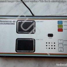 Videojuegos y Consolas: TUBAL 1977 VIDEOCONSOLA VIDEOMASTER COLOURSCORE 800 GRS 27 CM HAY LO QUE APARECE EN LAS FOTOS. Lote 129299175