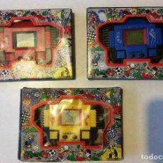Videojuegos y Consolas: LOTE 3 GAME & WATCH JUEGO ELECTRÓNICO UFO + BASE BALL + HANDBALL NUEVOS SIN USAR. Lote 129325023