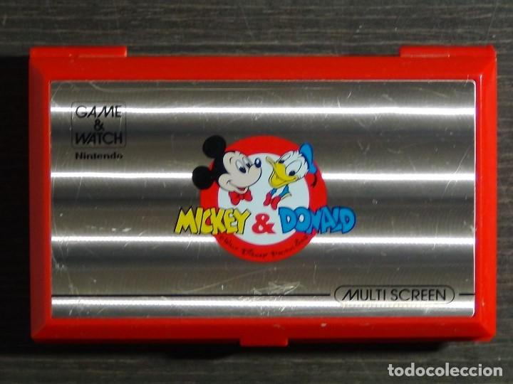 Videojuegos y Consolas: Nintendo Game & Watch Mickey & Donald Modelo DM-53 año 1982 - VER VIDEO!!!! - Foto 2 - 129473995
