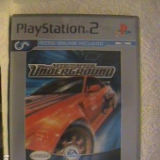 Videojuegos y Consolas: NEED FOR SPEED UNDERGROUND, PLANITUM, PS2. Lote 129752703