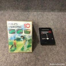 Videojuegos y Consolas: VIDEOPAC 10 GOLF PHILIPS VIDEOPAC G7000. Lote 130378006