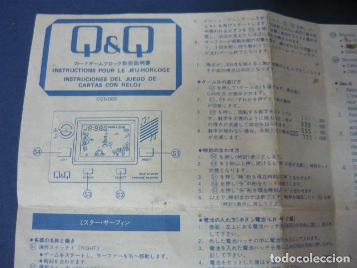 Videojuegos y Consolas: MAQUINITA Q&Q CARD GAME CLOCK MR.SURFING + INSTRUCCIONES ORIGINALES. FUNCIONA. RARA - Foto 3 - 130579510