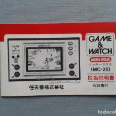 Videojogos e Consolas: NINTENDO GAME&WATCH MICKEY MOUSE MC-25 ORIGINAL JAPAN INSTRUCTION MANUAL R7798. Lote 130761228