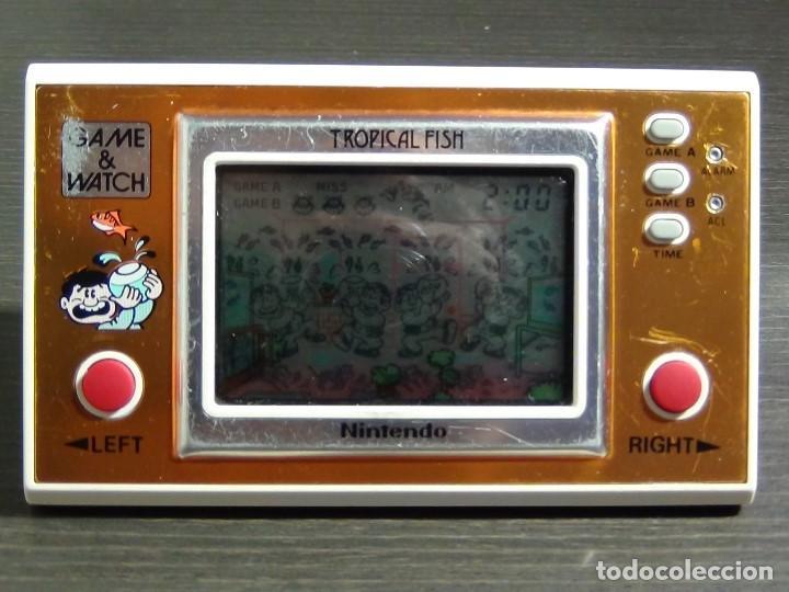 Videojuegos y Consolas: Game & Watch - Tropical Fish - Nintendo - TF-104 VER VIDEO!!!! - Foto 7 - 135150790