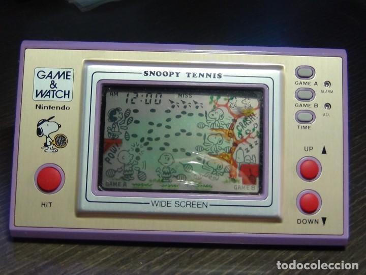 Videojuegos y Consolas: Nintendo game & watch Snoopy Tennis - VER VIDEO!!!! - Foto 4 - 136200422