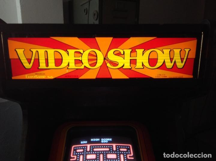 Videojuegos y Consolas: MAQUINA RECREATIVA DE SALON - JUEGO ORIGINAL COMECOCOS AÑO 1980 -81 - EUROGAME S.A. - Foto 7 - 137428366