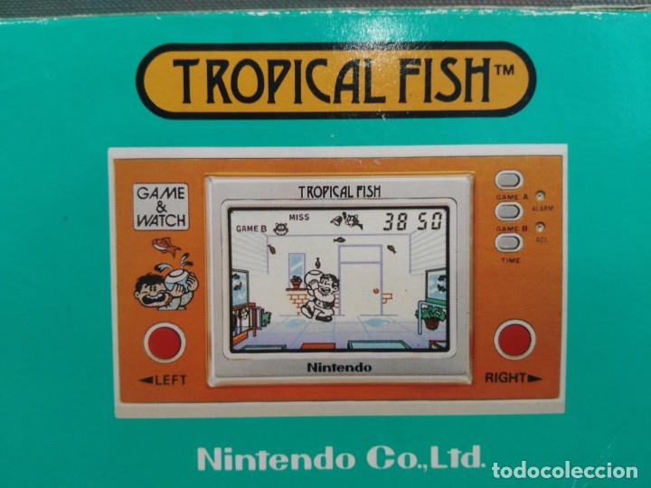 Videojuegos y Consolas: ANTIGUA MAQUINITA GAME WATCH DE NINTENDO EN CAJA TROPICAL FISH - Foto 5 - 138756370
