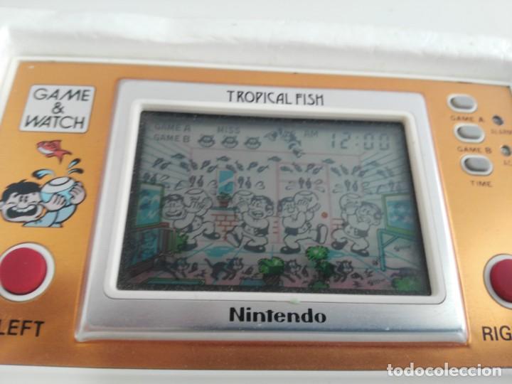 Videojuegos y Consolas: ANTIGUA MAQUINITA GAME WATCH DE NINTENDO EN CAJA TROPICAL FISH - Foto 7 - 138756370