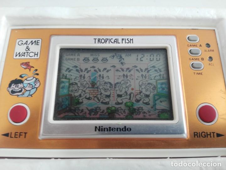 Videojuegos y Consolas: ANTIGUA MAQUINITA GAME WATCH DE NINTENDO EN CAJA TROPICAL FISH - Foto 10 - 138756370