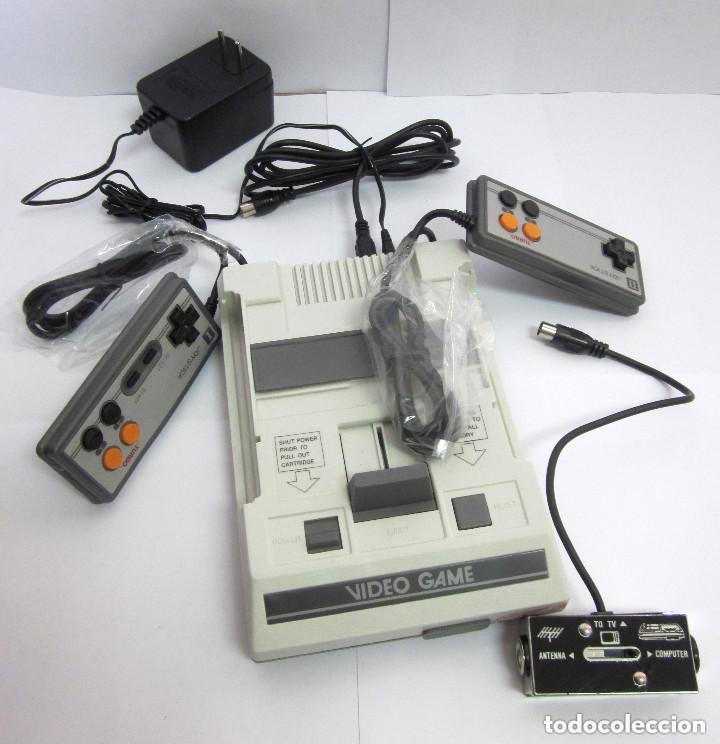 ANTIGUA CONSOLA VIDEO GAME COMPUTER DOS MANDOS TV AC ADAPTOR CABLE ADAPTADOR (Juguetes - Videojuegos y Consolas - Otros descatalogados)