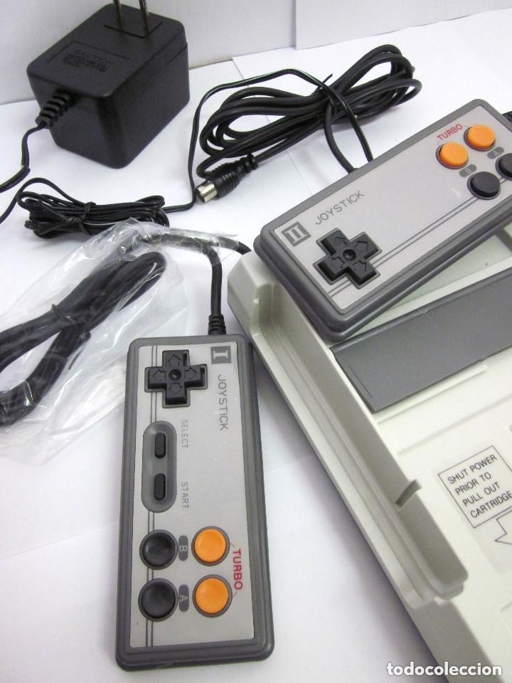 Videojuegos y Consolas: Antigua Consola Video Game Computer dos mandos Tv Ac Adaptor cable adaptador - Foto 8 - 139067942