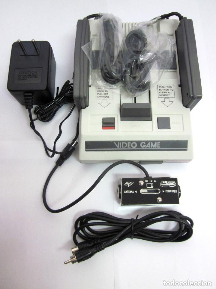 Videojuegos y Consolas: Antigua Consola Video Game Computer dos mandos Tv Ac Adaptor cable adaptador - Foto 12 - 139067942