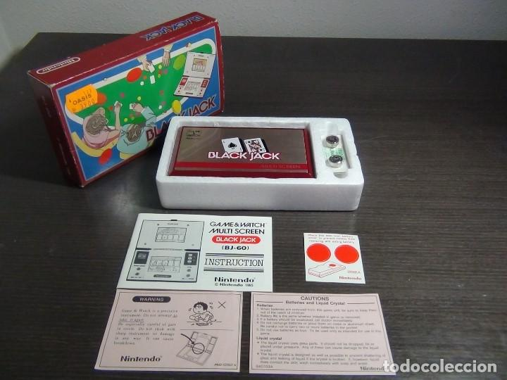 Videojuegos y Consolas: NINTENDO GAME & WATCH MULTISCREEN BLACK JACK BJ-60 / hasta con sus pilas originales - Foto 1 - 140170250