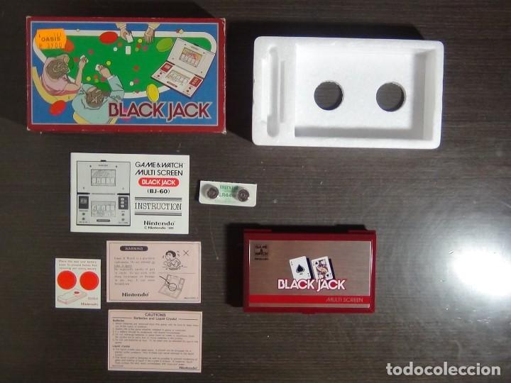 Videojuegos y Consolas: NINTENDO GAME & WATCH MULTISCREEN BLACK JACK BJ-60 / hasta con sus pilas originales - Foto 2 - 140170250