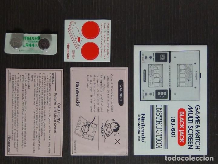 Videojuegos y Consolas: NINTENDO GAME & WATCH MULTISCREEN BLACK JACK BJ-60 / hasta con sus pilas originales - Foto 7 - 140170250