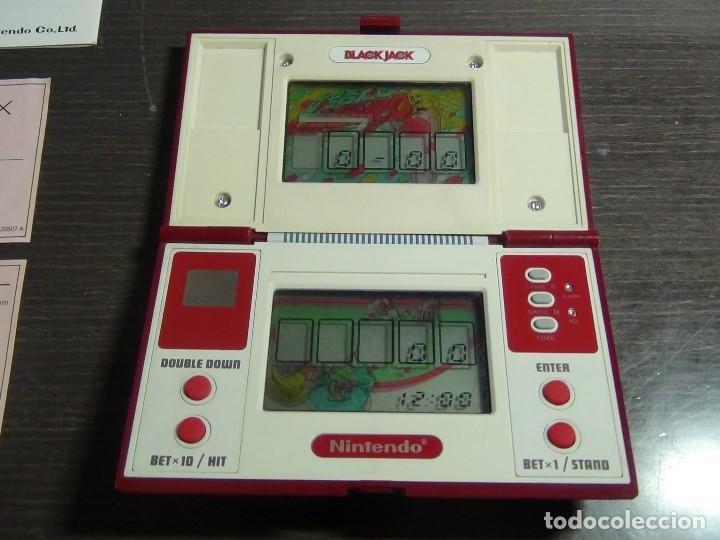 Videojuegos y Consolas: NINTENDO GAME & WATCH MULTISCREEN BLACK JACK BJ-60 / hasta con sus pilas originales - Foto 22 - 140170250