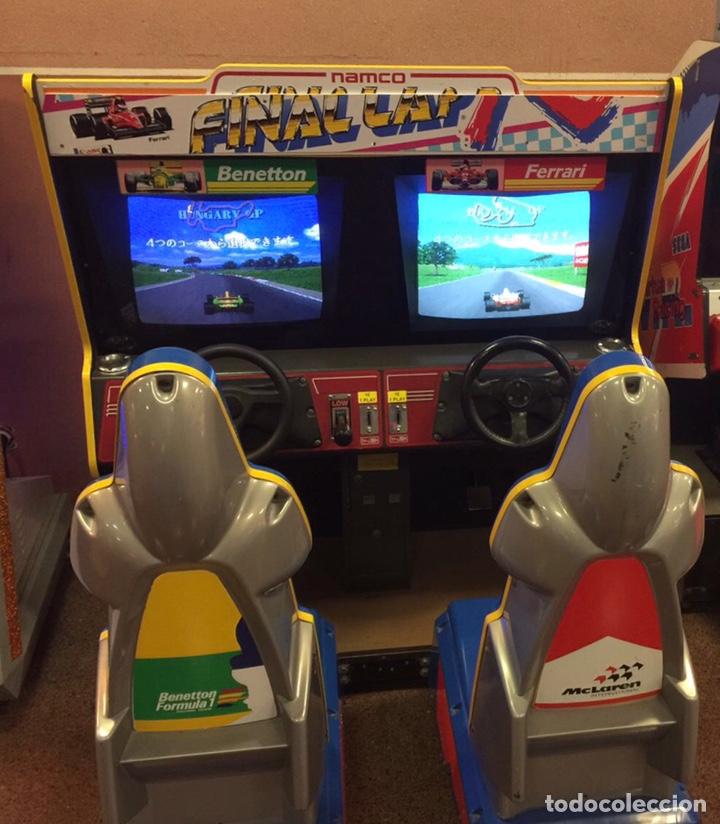 Videojuegos y Consolas: Maquina recreativa arcade vintage simulador FINAL LAP R. Ocasión. - Foto 2 - 140676378