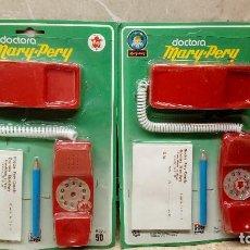 Videojuegos y Consolas: LOTE DE DOS TELEFONOS MARY PERY BARVAL EN BLISTER SIN ABRIR DE ENFERMERA O DOCTORA ( IBI ) AÑOS 70.. Lote 141437194
