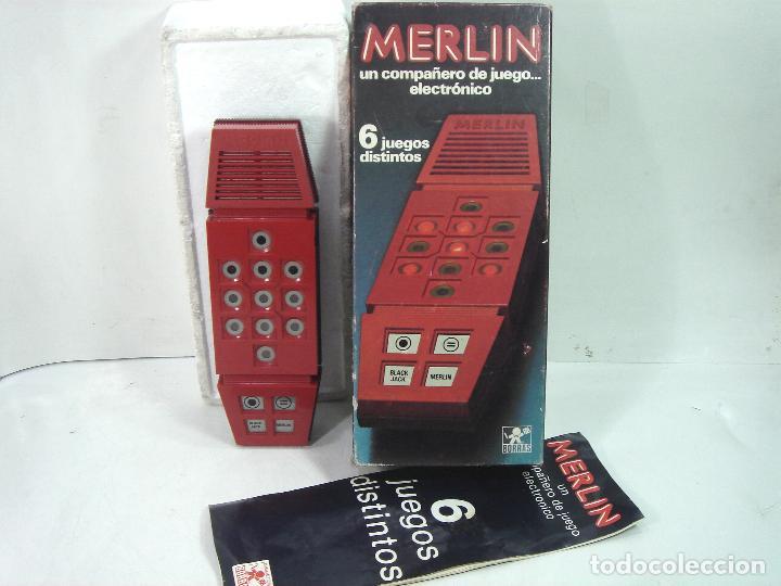 JUEGO ELECTRONICO-MERLIN DE BORRAS 1980 REF: 8081 ¡¡FUNCIONANDO¡¡ 6 JUEGOS DISTINTOS (Juguetes - Videojuegos y Consolas - Otros descatalogados)