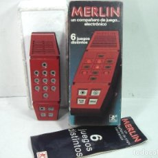 Videojuegos y Consolas: JUEGO ELECTRONICO-MERLIN DE BORRAS 1980 REF: 8081 ¡¡FUNCIONANDO¡¡ 6 JUEGOS DISTINTOS. Lote 141870554