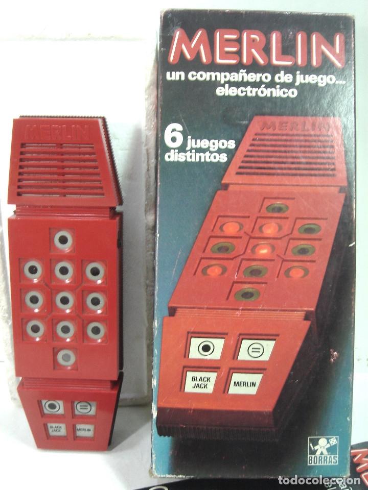 Videojuegos y Consolas: JUEGO ELECTRONICO-MERLIN DE BORRAS 1980 REF: 8081 ¡¡FUNCIONANDO¡¡ 6 JUEGOS DISTINTOS - Foto 2 - 141870554