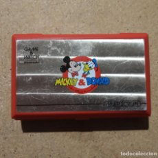 Videojuegos y Consolas: NINTENDO GAME WATCH MICKEY & DONALD MULTI SCREEN CIERRE ROTO Y TAPADERA CAMBIADA FUNCIONANDO. Lote 142855270