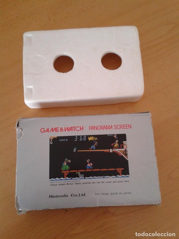 Videojuegos y Consolas: NINTENDO GAME&WATCH PANORAMA POPEYE PG-92 CAJA COMPLETA BOX&FOAM VER! R8260 - Foto 2 - 143385090