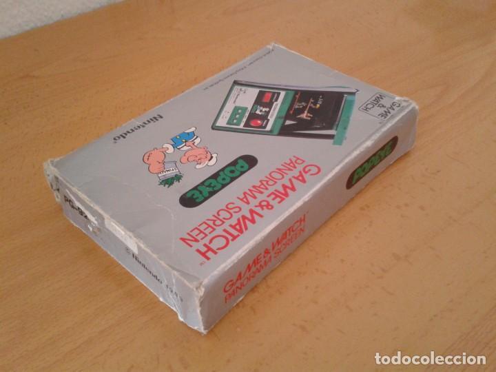 Videojuegos y Consolas: NINTENDO GAME&WATCH PANORAMA POPEYE PG-92 CAJA COMPLETA BOX&FOAM VER! R8260 - Foto 6 - 143385090