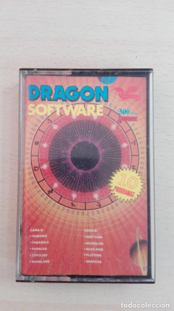 DRAGON SOFTWARE Nº 2-DRAGON CASSETTE-EDITORIAL GRUPO 21-AÑO 1985-DIFÍCIL. (Juguetes - Videojuegos y Consolas - Otros descatalogados)
