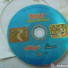 Videojuegos y Consolas: CD ROM DE ASTERIX : JUEGOS DISPARATADOS . REGALO DE CEREALES KELLOGG´S. AÑOS 90.. Lote 144064658