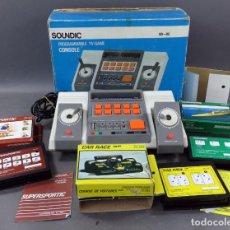 Videojuegos y Consolas: CONSOLA SOUNDIC TV SD 05 CON 3 JUEGOS SUPERSPORTIF CAR RACE Y SUBMARINE AÑOS 80. Lote 144487182