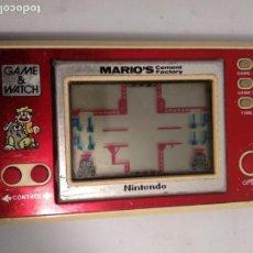 Videojuegos y Consolas: MARIO´S CEMENT FACTORY, NINTENDO 1983. ML-102. GAME & WATCH. MARIO BROS, MAQUINITA FUNCIONANDO. Lote 144705922