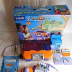 Videojuegos y Consolas: M69 CONSOLA PARA NIÑOS DE 3-8 AÑOS DE VTECH. V. SMILE. PARA JUGAR Y APRENDER. COMPLETA.. Lote 145819490