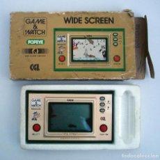 Videojuegos y Consolas: NINTENDO POPEYE GAME AND WATCH 1981. PP-23. FUNCIONA. CON CAJA ORIGINAL E INSTRUCCIONES. Lote 145842922