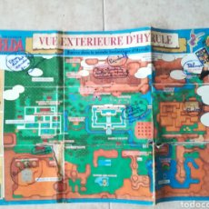Videojogos e Consolas: MAPA GUÍA PLANO LEGEND OF ZELDA EN FRANCÉS. Lote 178246278