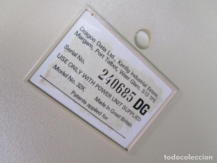 Videojuegos y Consolas: de museo! ordenador vintage antiguo mitico DRAGON 32 con software, juego, cable y en su caja corcho - Foto 4 - 147264814