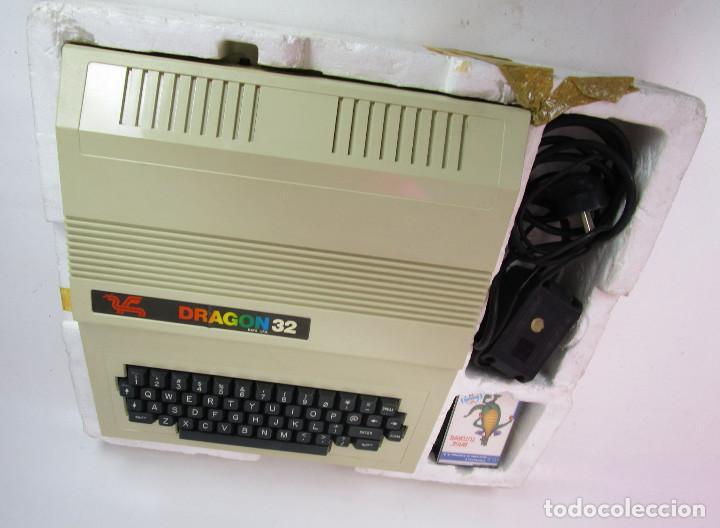 Videojuegos y Consolas: de museo! ordenador vintage antiguo mitico DRAGON 32 con software, juego, cable y en su caja corcho - Foto 6 - 147264814