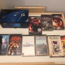 Videojuegos y Consolas: LOTE PSP CONSOLA MÁS 26 JUEGOS ALGUNOS PRECINTADOS. Lote 147385536
