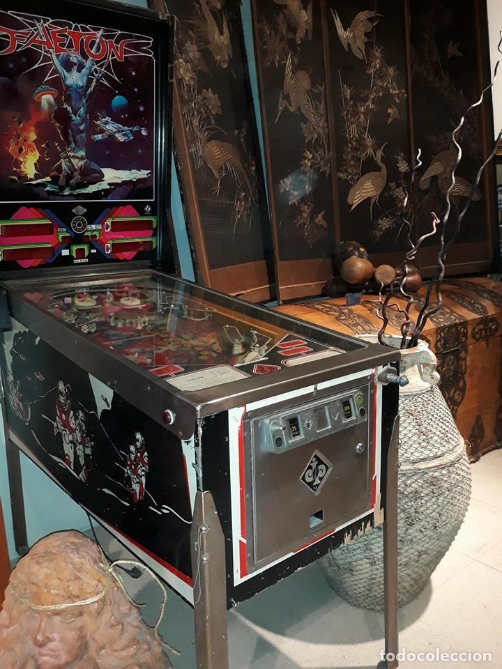 Videojuegos y Consolas: Pinball FAETON de Juegos Populares.PETACO Año fabricación 1985. 4 jugadores. 1 bola. 2 flippers - Foto 4 - 121041519