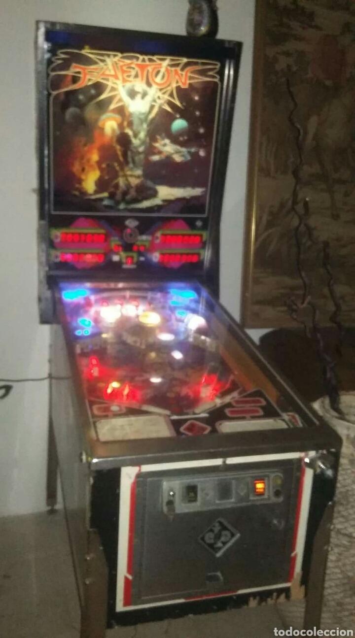 Videojuegos y Consolas: Pinball FAETON de Juegos Populares.PETACO Año fabricación 1985. 4 jugadores. 1 bola. 2 flippers - Foto 2 - 121041519