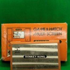 Videojuegos y Consolas: NINTENDO GAME&WATCH MULTISCREEN DONKEY KONG I DK-52 FUNCIONANDO. Lote 148983894