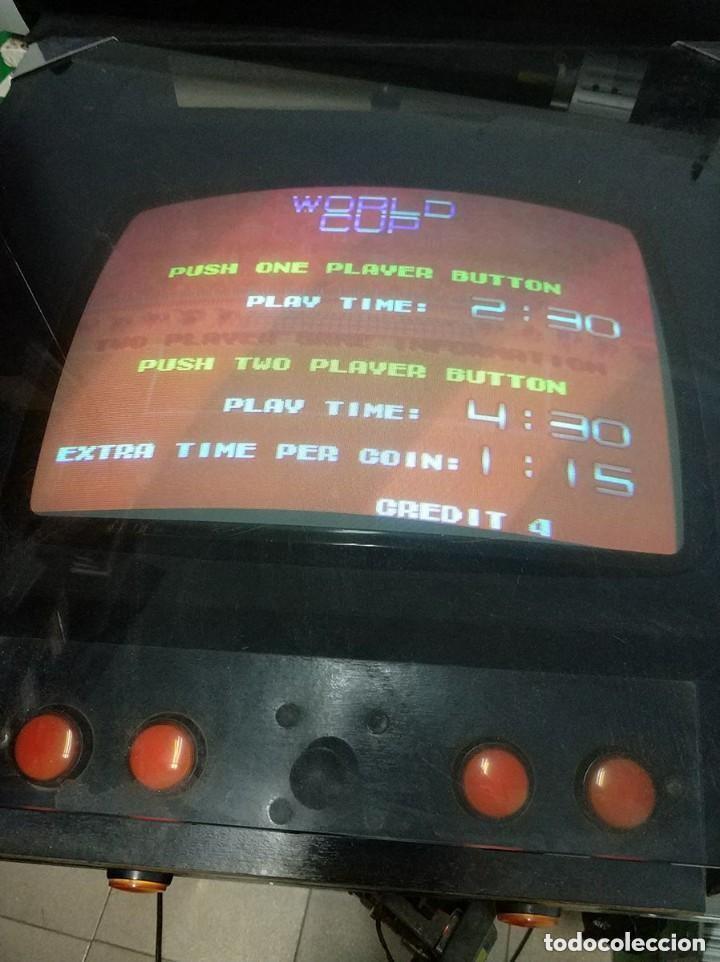 Videojuegos y Consolas: antigua maquina recreativa world cup año 1985 mitico juego de futbol mundial - Foto 3 - 150198074