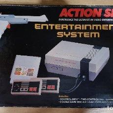 Videojuegos y Consolas: CONSOLA ACTION SET ENTERTAINMENT SYSTEM. CLÓNICA NINTENDO NES. JUEGOS PREINSTALADOS. 80-90S. NUEVA. Lote 150292374