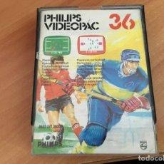 Videojuegos y Consolas: FUTBOL + HOCKEY HIELO VIDEOPAC COMPUTER PHILIPS G7000 Nº 36 (J-1). Lote 152555798