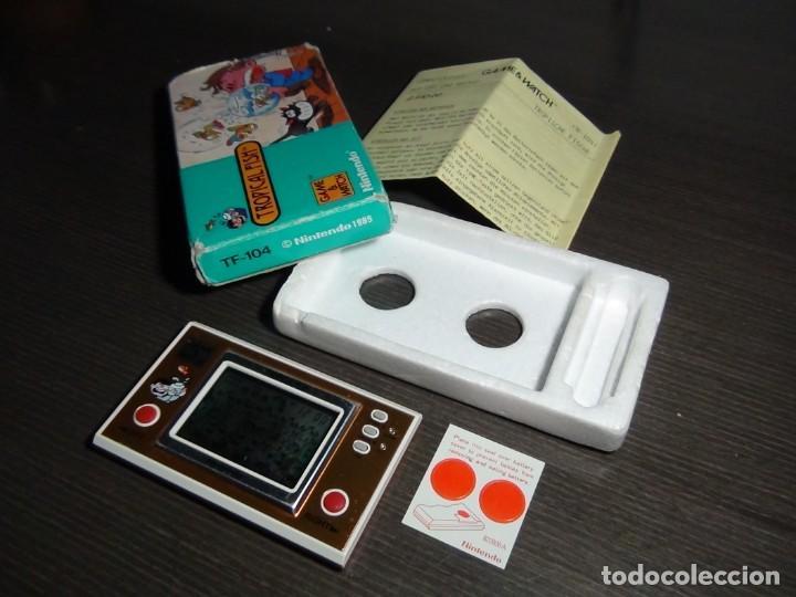 Videojuegos y Consolas: Nintendo Game & Watch tropical fish TF-104 con embalaje original - VER VIDEO!!!!! - Foto 4 - 153707202