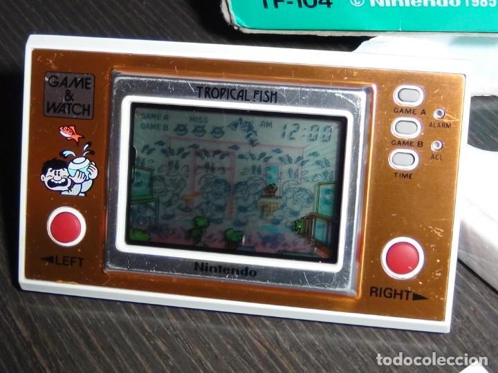 Videojuegos y Consolas: Nintendo Game & Watch tropical fish TF-104 con embalaje original - VER VIDEO!!!!! - Foto 6 - 153707202
