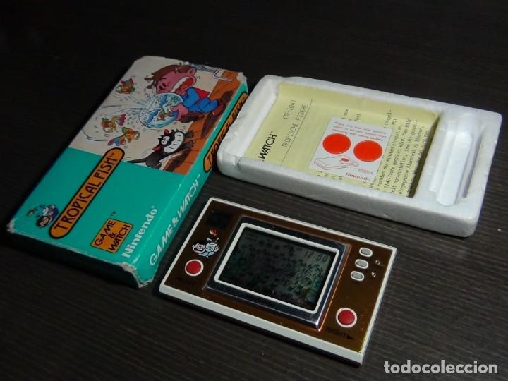 Videojuegos y Consolas: Nintendo Game & Watch tropical fish TF-104 con embalaje original - VER VIDEO!!!!! - Foto 9 - 153707202