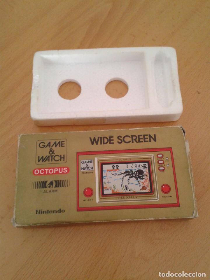 NINTENDO GAME&WATCH WIDESCREEN OCTOPUS OC-22 CAJA COMPLETA BOX+FOAM VER!! R8692 (Juguetes - Videojuegos y Consolas - Otros descatalogados)